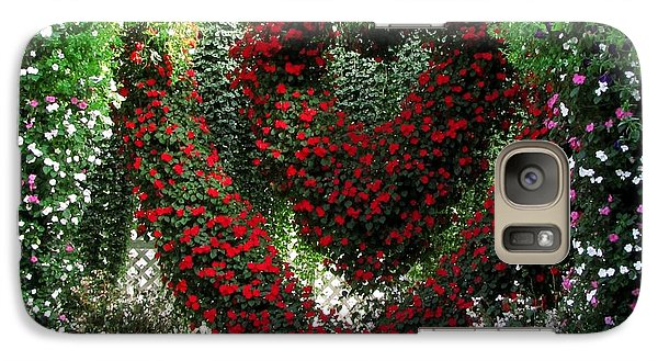 Galaxy Case featuring the photograph Hearts And Flowers by Jennifer Wheatley Wolf