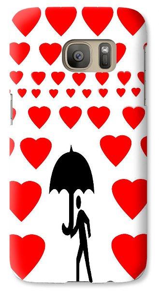 Galaxy Case featuring the digital art Hearts Attack  by Sladjana Lazarevic