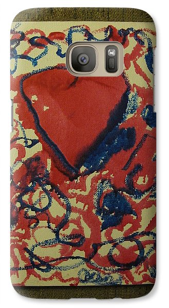 Galaxy Case featuring the painting Hearts Entwined by Lawrence Christopher