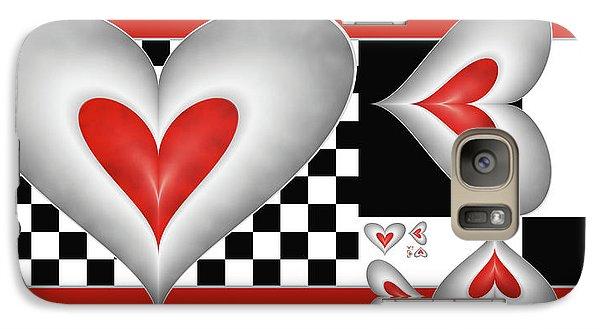 Galaxy Case featuring the digital art Hearts On A Chessboard by Gabiw Art