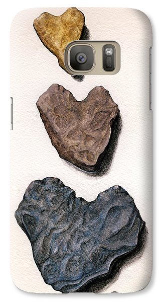 Galaxy Case featuring the painting Hearts Rock by Janice Dunbar