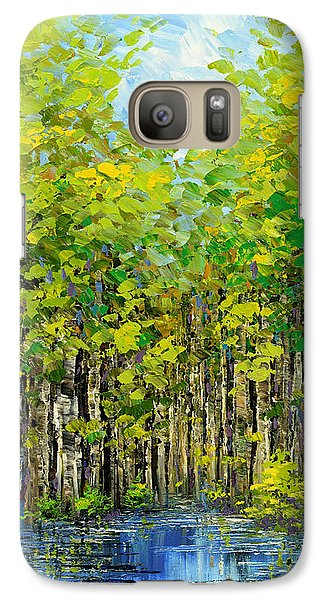 Galaxy Case featuring the painting Heat Of Summer by Tatiana Iliina