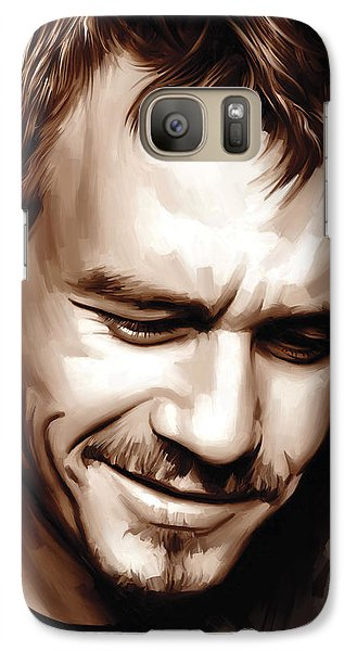 Heath Ledger Artwork Galaxy S7 Case by Sheraz A