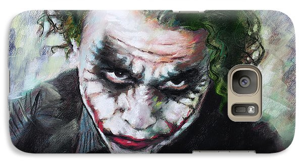 Heath Ledger The Dark Knight Galaxy S7 Case by Viola El
