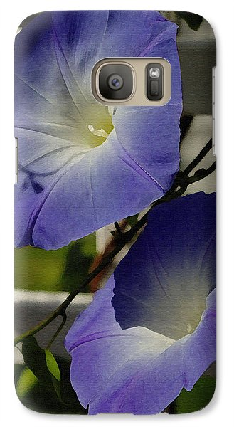 Galaxy Case featuring the photograph Heavenly Blue Morning Glory by James C Thomas