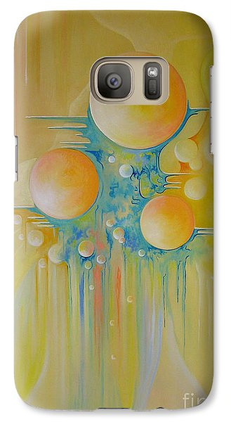 Galaxy Case featuring the painting Heavenly City by Alexa Szlavics