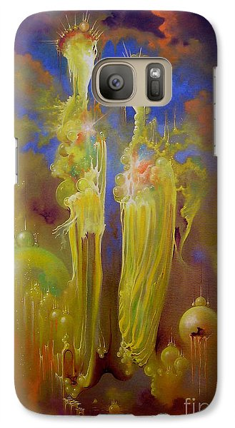 Galaxy Case featuring the painting Heavenly Kingdom by Alexa Szlavics