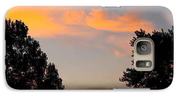 Galaxy Case featuring the photograph Heavenly Orange by Roseann Errigo