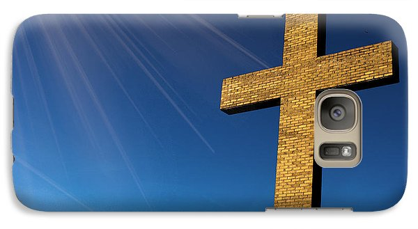 Galaxy Case featuring the photograph Heaven's Cross by Michael Waters