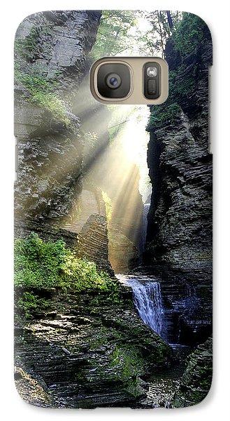 Galaxy Case featuring the photograph Heaven's Light In Watkins Glen by Gene Walls