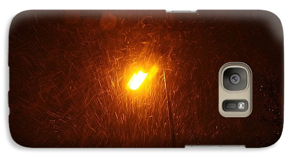 Galaxy Case featuring the photograph Heavy Snows By Lamplight by Jean Walker