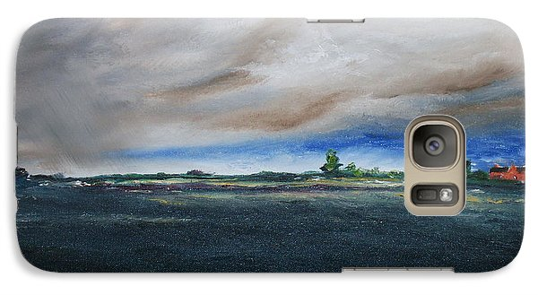Galaxy Case featuring the painting Heavy With Rain by Conor Murphy