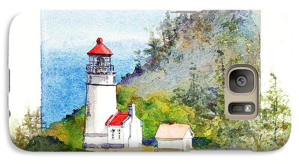 Galaxy Case featuring the painting Heceta Head Lighthouse by Bonnie Rinier