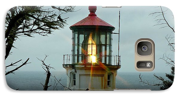 Galaxy Case featuring the photograph Heceta Head Lighthouse by Nick  Boren