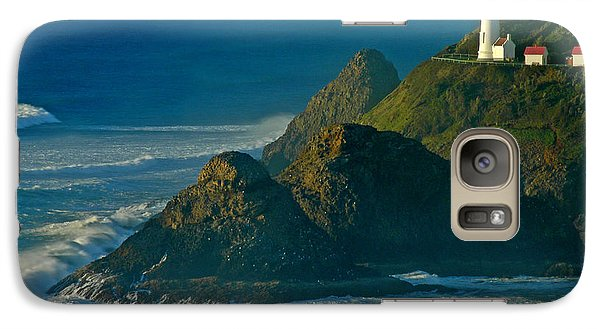 Galaxy Case featuring the photograph Heceta Head Seascape by Nick  Boren