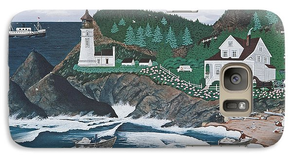 Galaxy Case featuring the painting Heceta Lighthouse by Jennifer Lake