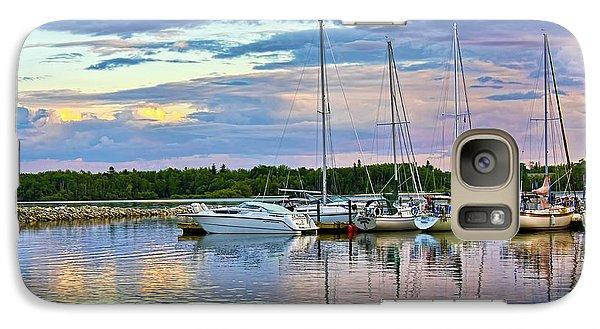 Galaxy Case featuring the photograph Hecla Island Boats II by Teresa Zieba