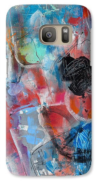 Galaxy Case featuring the painting Hectic by Katie Black