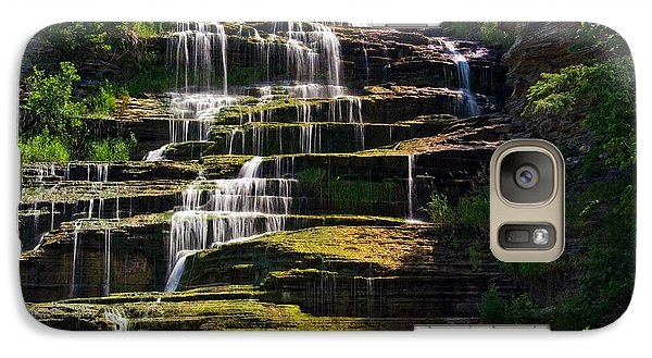 Galaxy Case featuring the photograph Hector Falls by Dave Files