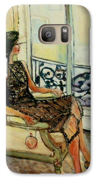 Galaxy Case featuring the painting Heddy by Helena Bebirian