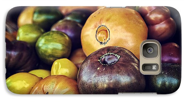 Heirloom Tomatoes At The Farmers Market Galaxy S7 Case by Scott Norris