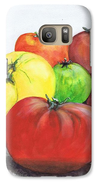 Galaxy Case featuring the painting Heirloom Tomatoes by June Holwell