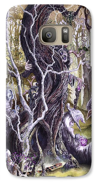 Galaxy Case featuring the painting Heist Of The Wizard's Staff 2 by Curtiss Shaffer