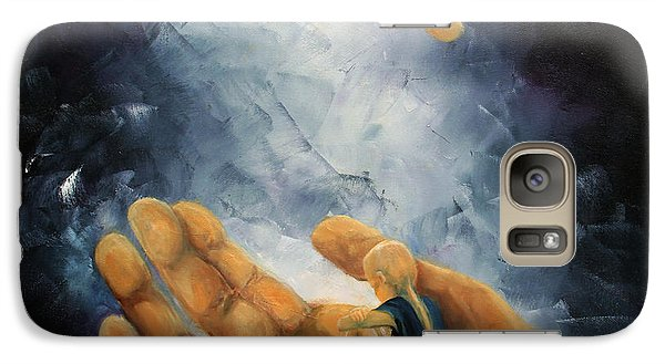 Galaxy Case featuring the painting Held by Meaghan Troup