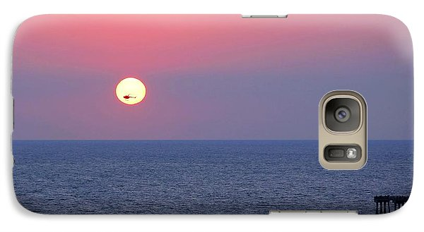Galaxy Case featuring the photograph Helicopter In The Sun by Elizabeth Budd