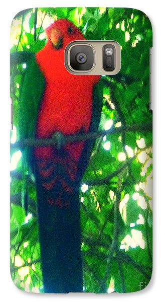 Galaxy Case featuring the photograph Hello Birdie by Therese Alcorn