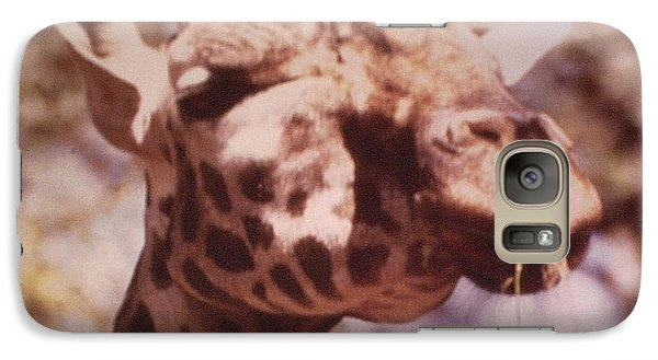 Galaxy Case featuring the photograph Velvety Giraffe by Belinda Lee