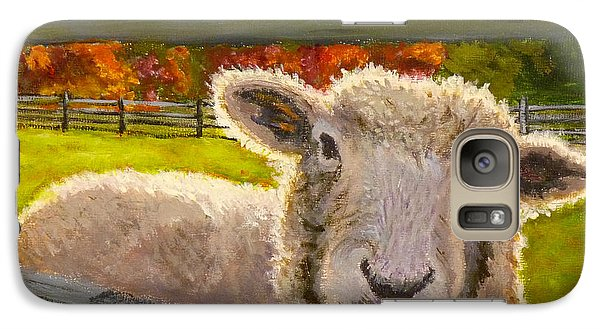 Galaxy Case featuring the painting Hello by Joe Bergholm