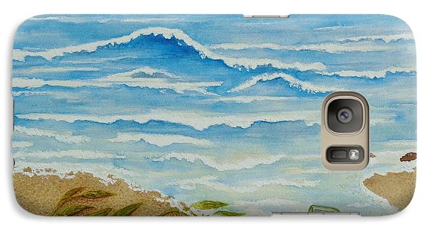 Galaxy Case featuring the painting Hello? by Katherine Young-Beck