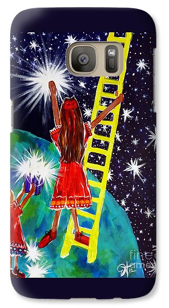 Galaxy Case featuring the painting Helping Hands by Jackie Carpenter