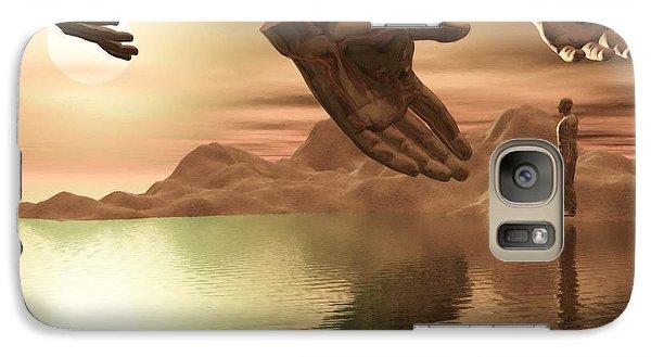 Galaxy Case featuring the digital art Helping Hands by John Alexander