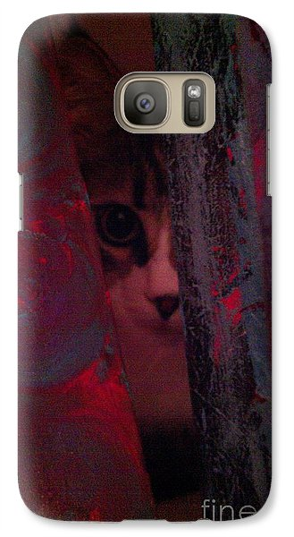 Galaxy Case featuring the photograph Helping In The Art Studio by Jacqueline McReynolds