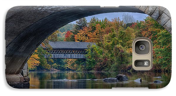 Galaxy Case featuring the photograph Henniker Covered Bridge No. 63 by Jeff Folger