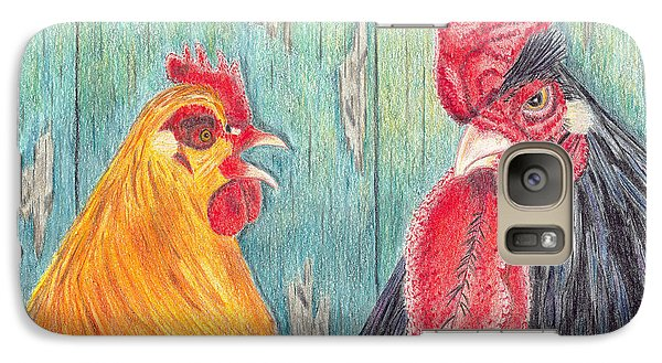 Galaxy Case featuring the drawing Henpecked by Arlene Crafton