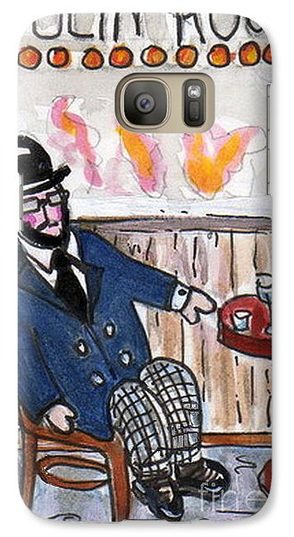 Galaxy Case featuring the painting Henri Always Enjoys His Evenings. by Joyce Gebauer