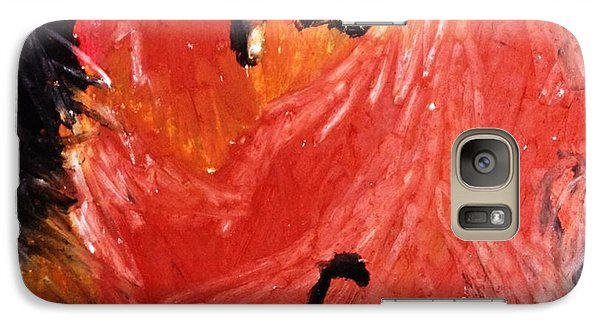 Galaxy Case featuring the drawing Hens by Helen Syron