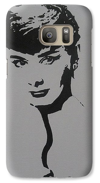 Galaxy Case featuring the painting Hepburn by Cherise Foster