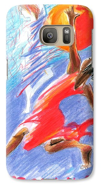 Galaxy Case featuring the painting Her Dream Is To Dance by Mary Armstrong