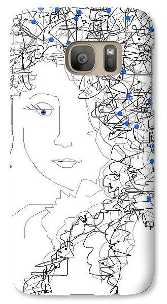 Galaxy Case featuring the digital art Her Hair by Sladjana Lazarevic