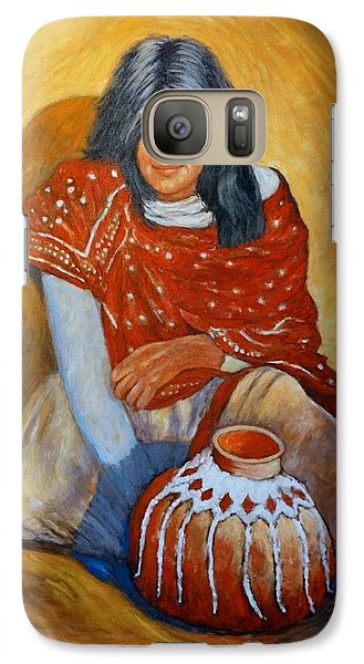 Galaxy Case featuring the painting Her Last Pot by Charles Munn