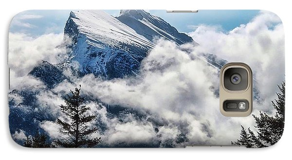 Galaxy Case featuring the photograph Her Majesty - Canada's Mount Rundle by Dyle   Warren