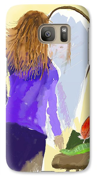 Galaxy Case featuring the digital art Her Reflection by Arline Wagner