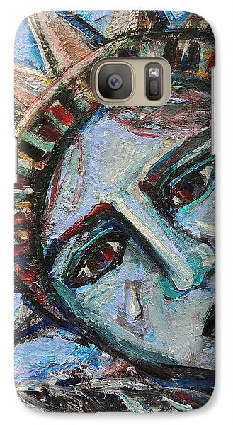 Galaxy Case featuring the painting Her Tear by Mary Schiros