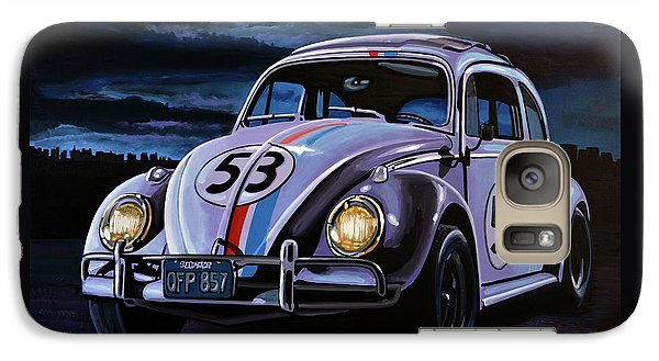 Beetle Galaxy S7 Case - Herbie The Love Bug Painting by Paul Meijering
