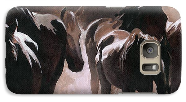 Galaxy Case featuring the painting Herd Of Horses by Natasha Denger