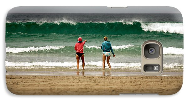 Galaxy Case featuring the photograph Here Comes The Big One by Terri Waters